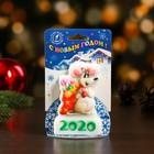 """Свеча-барельеф """"Мышонок со сладостями"""" Символ Года 2020"""
