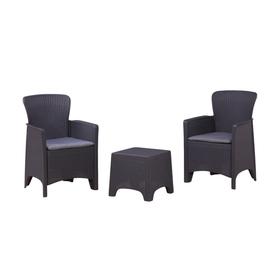Набор мебели: 2 кресла, стол, с подушкой, иск. ротанг, SF3-2P