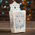 """Коробка картонная """"Снежинка белая"""", 8 х 5 х 14 см"""