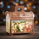 """Коробка картонная """"Сундучок деревянный"""", 14 х 8 х 12 см"""