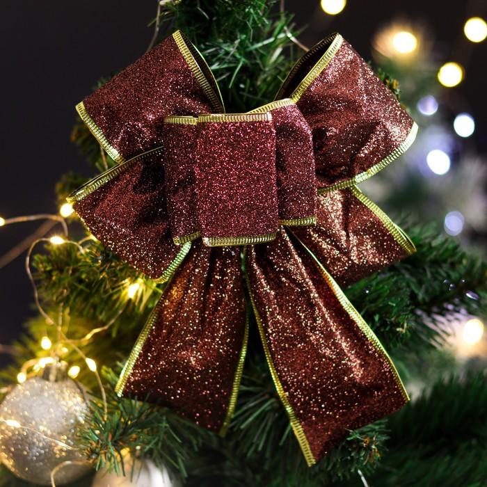 """Бант праздничный """"Яркий"""", розовый, коричневый, 20 х 21 см"""