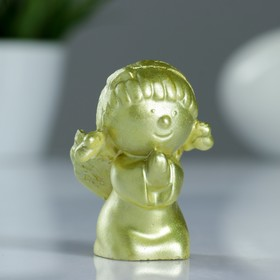 Фигура 'Ангелочек девочка' золото 6,4х3,5х4,5 см Ош