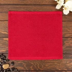 Полотенце Ocean 30х30 см, красный, хлопок 100%, 360 г/м2 Ош