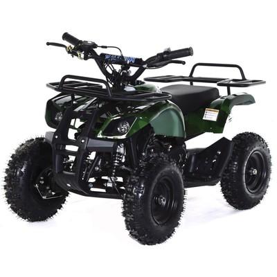 Квадроцикл детский бензиновый MOTAX ATV Х-16 Big Wheel с механическим старт,зеленый камуфляж