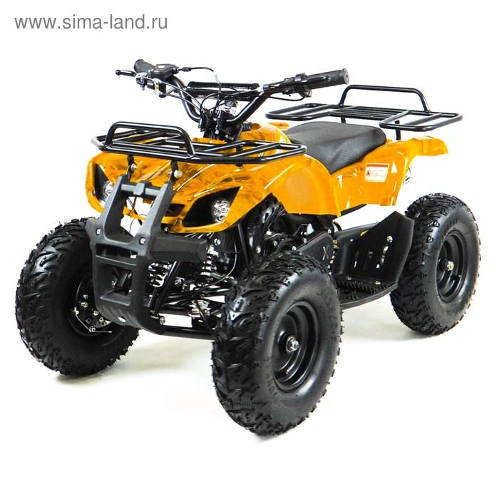 Квадроцикл детский бензиновый MOTAX ATV Х-16 Big Wheel с механическим старт, желтый камуфляж