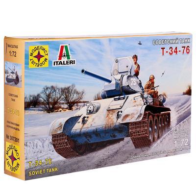 Сборная модель «Советский танк Т-34-76», масштаб 1:72 - Фото 1