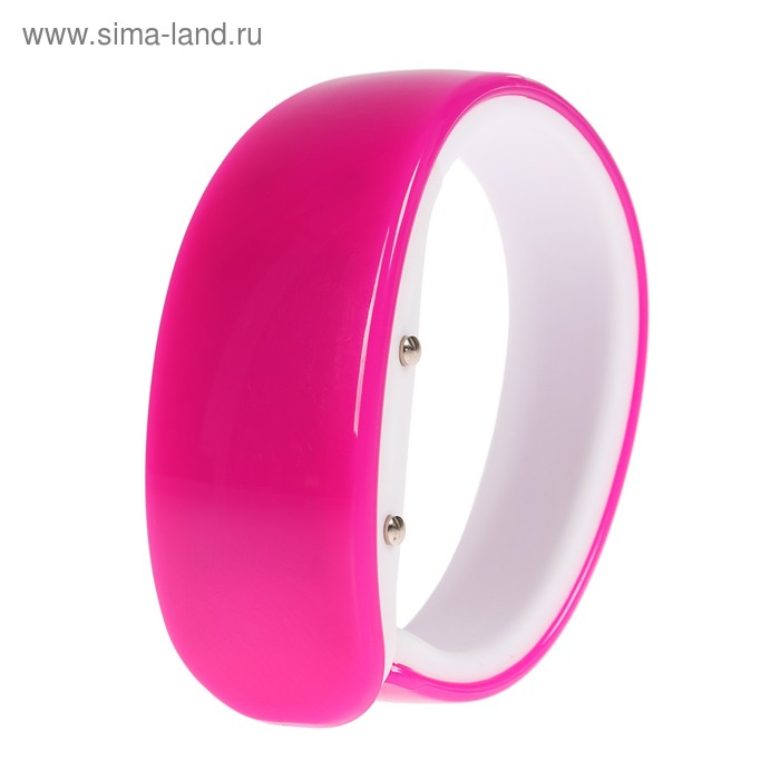 Часы электронные с LED подсветкой, розовые