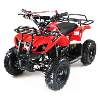 Квадроцикл детский бензиновый MOTAX ATV Х-16 Мини-Гризли, с механическим стартером, красный   445016