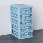 Мини-комод для мелочей 5-ти секционный «Вязание», цвет МИКС