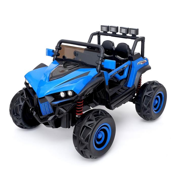 Электромобиль «Монстр», полный привод 4WD, РУ, FM, USB, цвет синий