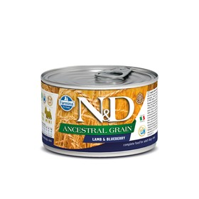 Влажный корм Farmina N&D Low Grain Dog для собак мини пород, ягненок/черника, 140 г