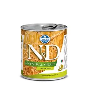 Влажный корм Farmina N&D Low Grain Dog для собак,  кабан/яблоко, 285 г