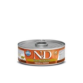 Влажный корм Farmina N&D Cat для кошек, тыква/оленина, 80 г