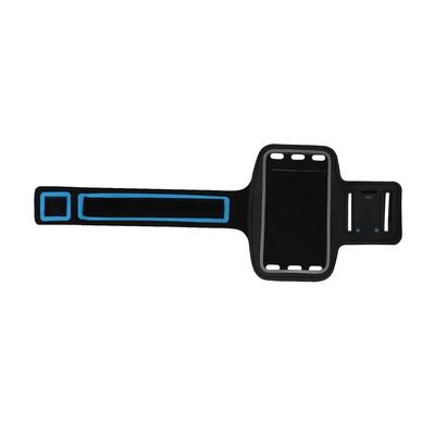 Чехол для телефона на руку LuazON, 14,5*7,5 см, светоотражающая полоса, черный