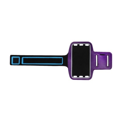 Чехол для телефона на руку LuazON, 14.5х7.5 см, светоотражающая полоса, фиолетовый - Фото 1