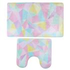 Набор ковриков для ванны и туалета «Цветная иллюзия», 2 шт: 40×45, 45×75 см