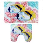 Набор ковриков для ванны и туалета «Морские рыбки», 2 шт: 40×45, 45×75 см