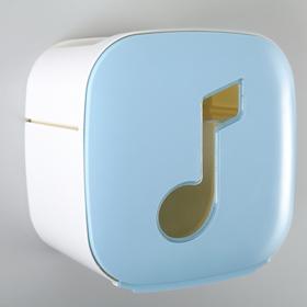 Держатель для туалетной бумаги 'Мелодия', цвет голубой Ош