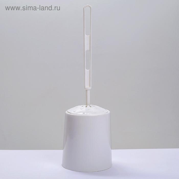 Ёрш для унитаза с подставкой круглый, цвет белый