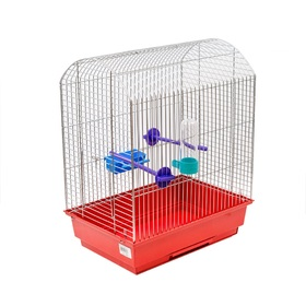 Клетка для птиц 'Агат', укомплектованная, 37 х 26 х 48 см, микс цветов Ош