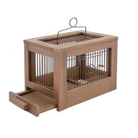 Клетка для птиц из массива 'Летняя веранда-3', укомплектованная, 47,5 х 27 х 32см, палисандр   45010 Ош