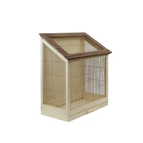Клетка для птиц 'Летняя веранда' с крепежом для стен, массив дерева, 40 х 29 х 61 см, микс Ош
