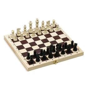 Шахматы 'Белоцветчик', доска дерево 30х30 см, король h=7.8 см, пешка h=3.5 см Ош