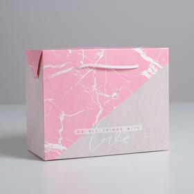 Пакет—коробка Love, 23 х18 х11 см Ош