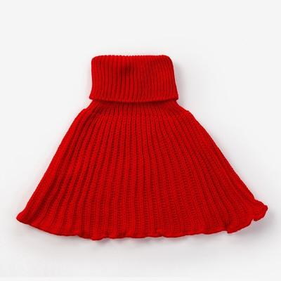 Шарф-манишка, возраст 0,6-3г, цвет красный