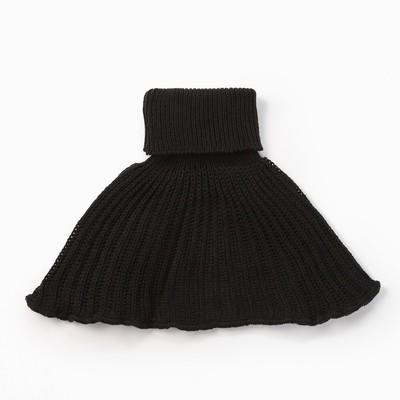 Шарф-манишка, возраст 0,6-3г, цвет черный