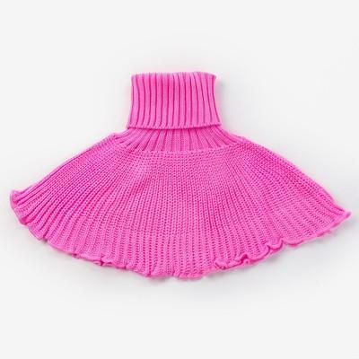 Шарф-манишка, возраст 5-8 лет, цвет розовый