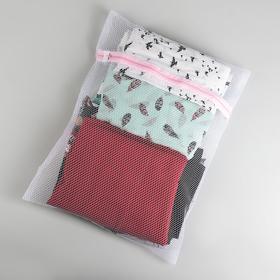 Мешок для стирки, 40×50 см, крупная сетка, цвет белый Ош