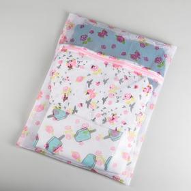 Мешок для стирки, 40×50 см, мелкая сетка, рисунок МИКС Ош