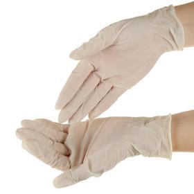 Перчатки смотровые Top Glove латексные, нестерильные, опудренные. р-М