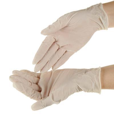 Перчатки смотровые Top Glove латексные, нестерильные, опудренные. р-М - Фото 1