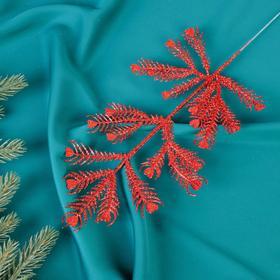 Декор блеск листья сердце 30 см Ош