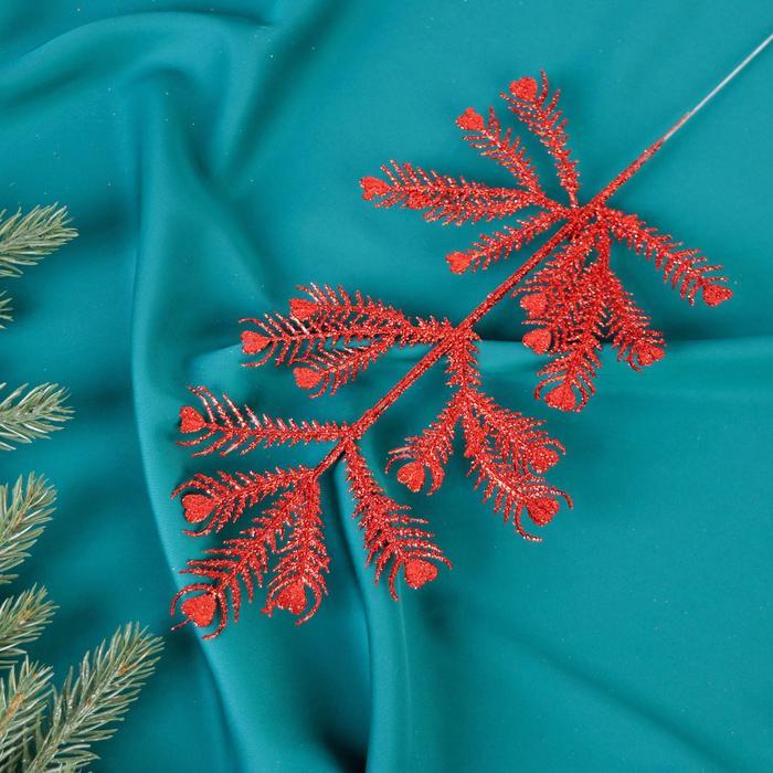 Декор блеск листья сердце 30 см