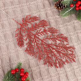 Декор блеск листья 30 см Ош