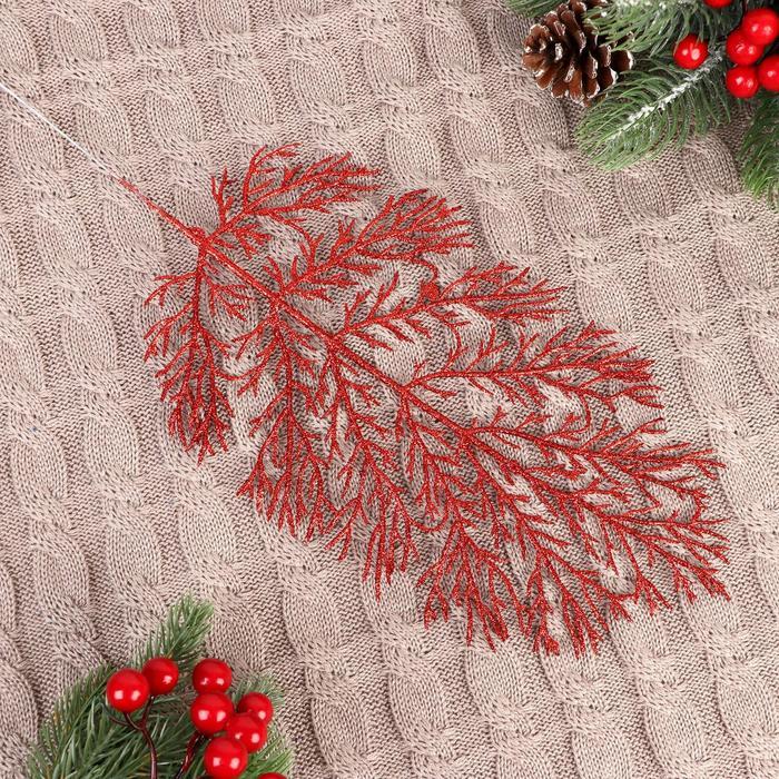 Декор блеск листья 30 см