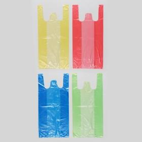Пакет '4 цвета', полиэтиленовый, майка, МИКС, 40х20 см, 8 мкм Ош