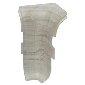 Внутренний угол для плинтуса SALAG 71 Дуб Деревенский белый, (1шт блистер)