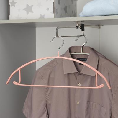 Вешалка-плечики для одежды Доляна «Мята», размер 42-44, антискользящее покрытие, цвет МИКС