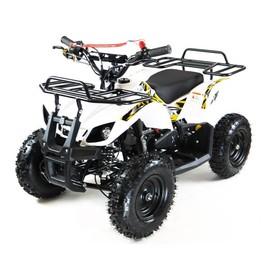 Квадроцикл детский бензиновый MOTAX ATV Х-16 с электростартером и родительским пультом,белый