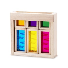 Игровой набор деревянных радужных блоков «Рассвет», со звуковым эффектом