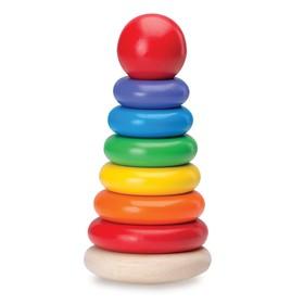 Деревянная игрушка «Пирамидка-неваляшка»