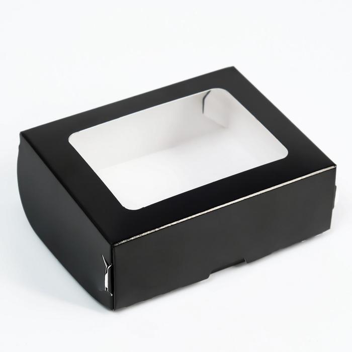 Контейнер на вынос, чёрный, 10 х 8 х 3,5 см