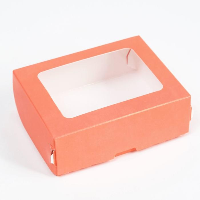 Контейнер на вынос, розовый, 10 х 8 х 3,5 см