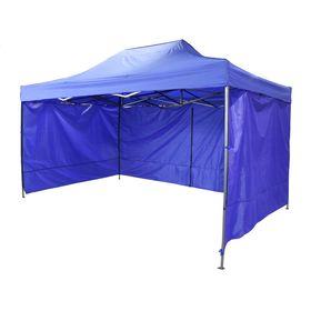 Палатка торговая 300*600 см, каркас складной черный, с молнией, цвет синий Ош