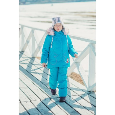 Комплект из куртки и полукомбинезона детский «Сказка», рост 104 см, цвет бирюзовый