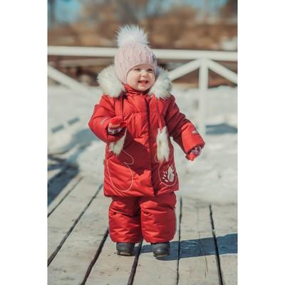 Комплект из куртки и полукомбинезона детский «Сказка», рост 104 см, цвет бордовый